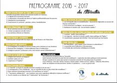 Préprogramme 2017